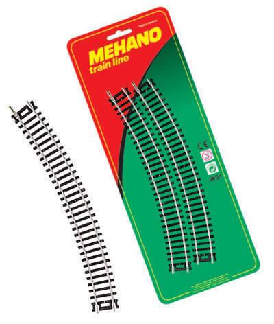 Рельсы радиальные (комплект из 4 шт.) для железной дороги «Mehano» (F210)