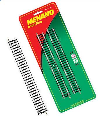 Рельсы прямые (комплект из 4 шт.) для железной дороги «Mehano» (F223)