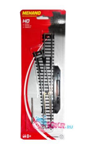 Стрелка левая (ручное переключение) для железной дороги «Mehano» (F282)