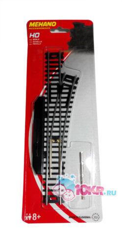 Стрелка правая (ручное переключение) для железной дороги «Mehano» (F283)