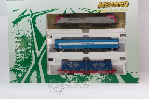 Железная дорога Mehano Siemens (Электровоз+2 вагона) T7390