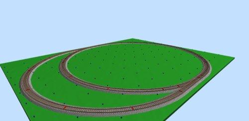 Железная дорога «MEHANO» Сапсан с рельефом 5м (T737)