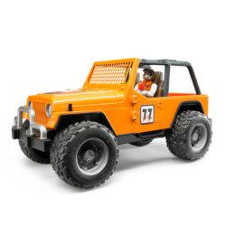 Bruder внедорожник Cross Country Racer оранжевый с гонщиком