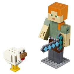 LEGO Minecraft Большие фигурки Minecraft Алекс с цыплёнком
