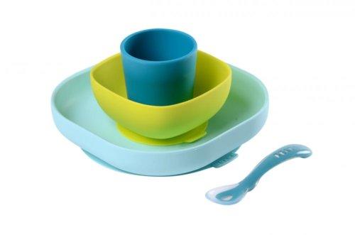 Beaba набор посуды цвет голубой