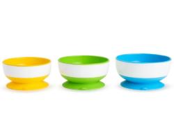 Munchkin набор детских тарелок на присосках 3шт.
