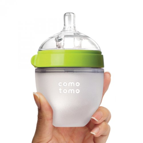 Comotomo бутылочка для кормления 150 мл цвет зеленый