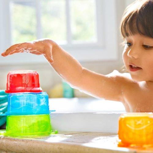 Munchkin игрушка для ванны Пирамидка-Гусеница от 9 мес