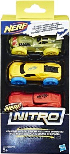 NERF Нитро машинки 3 шт.