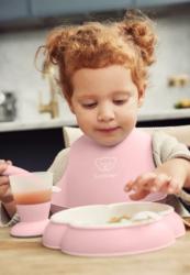 BabyBjorn Нагрудник мягкий с карманом Нежно-розовый