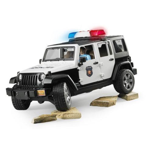 Bruder Внедорожник Jeep Wrangler Unlimited Rubicon Полиция с фигуркой