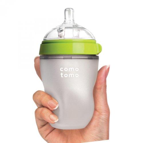 Comotomo бутылочка для кормления 250 мл цвет зеленый