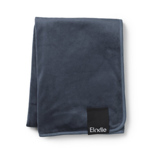 Elodie плед Velvet — Juniper Blue