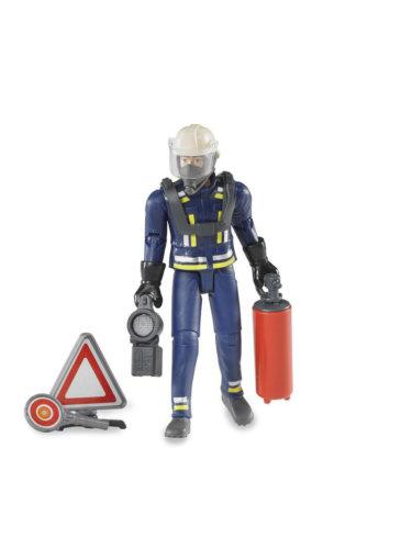 Bruder Фигурка пожарного 107 мм с аксессуарами