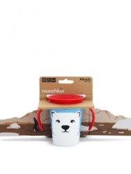 Munchkin поильник-непроливайка MIRACLE 360° ЭКО с ручками Арктический медведь 177мл. 6+