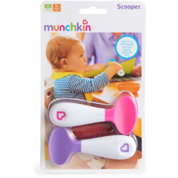 Munchkin ложки розовая фиолетовая пластиковые 9+