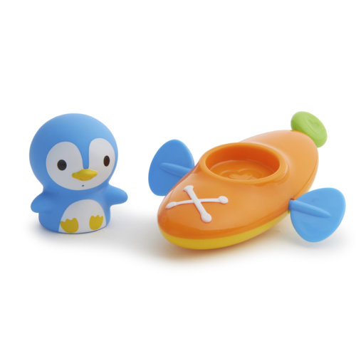 Munchkin игрушка для ванны пингвин в лодке