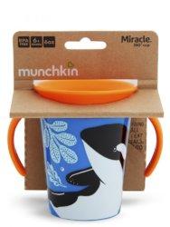 Munchkin поильник-непроливайка MIRACLE 360° ЭКО с ручками Косатка 177мл. 6+