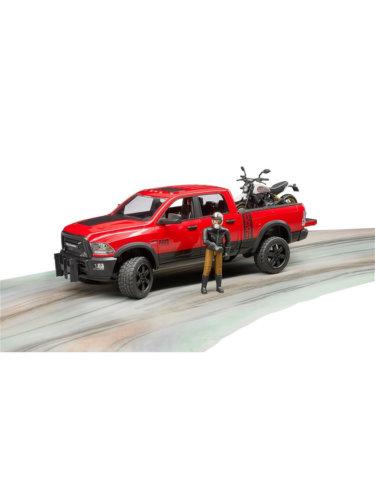 Bruder джип Dodge RAM 2500 с мотоциклом Ducati