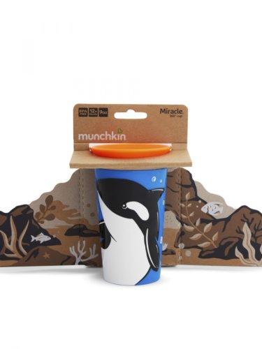 Munchkin поильник-непроливайка MIRACLE 360° ЭКО Косатка 296 12+