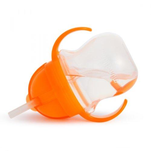 Munchkin поильник Click Lock с трубочкой и ручками Оранжевый 207 мл. 6+