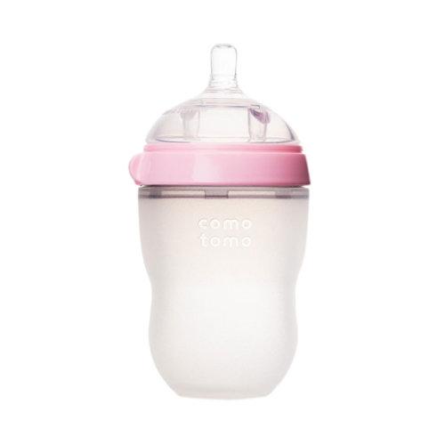 Comotomo бутылочка антиколиковая 250 мл розовая (3+)