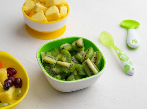Munchkin ложки голубая зелёная пластиковые 9+