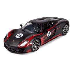 Машинка радиоуправляемая (USB) Rastar PORSCHE 918 SP 1:14 матовая черная