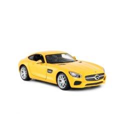Машинка на радиоуправлении (На Батарейках) Rastar Mercedes AMG GT 1:14 Желтая