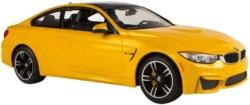 Машинка на радиоуправлении (На Батарейках) Rastar BMW M4 Coupe 1:14 Желтая