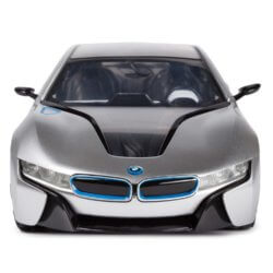 Машинка радиоуправляемая (На батарейках) Rastar BMW i8 1:14 серебрянная
