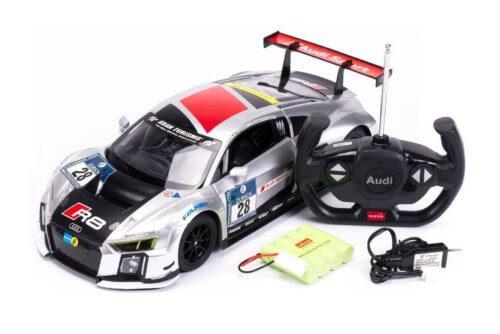Машинка радиоуправляемая (USB) Rastar AUDI R8 1:14 performance серебряная