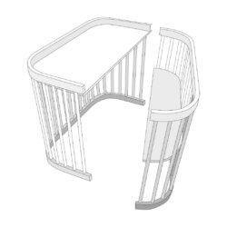 ComfortBaby кроватка SmartTrip 5в1 + матрас + маятник