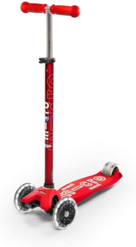 MICRO MAXI DELUXE LED SCOOTER: RED