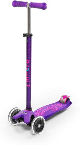 MICRO MAXI DELUXE LED SCOOTER: PURPLE
