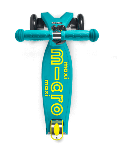 MICRO MAXI DELUXE LED SCOOTER: PETROL GREEN