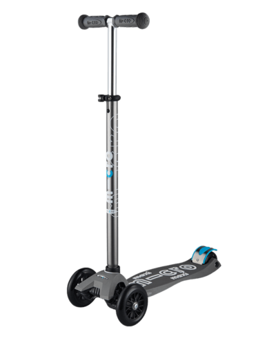 MICRO MAXI DELUXE LED SCOOTER: VOLCANO GREY