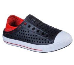 Слипоны для мальчиков Skechers Boys' Guzman Steps Black/Red