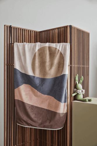 Elodie плед-одеяло Velvet — Winter Sunset
