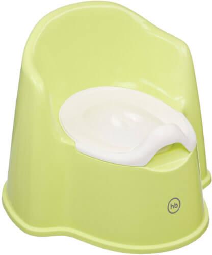 Happy Baby горшок «Zozzy», с завышенной спинкой, green