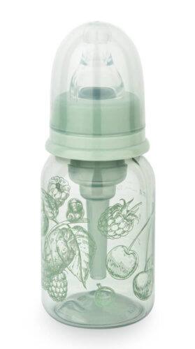 Happy Baby Бутылочка антиколиковая, с силиконовой соской, 120 мл., зеленый