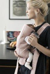 BabyBjorn Mini Cotton рюкзак для новорожденных пепельно-розовый
