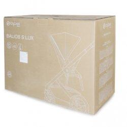 Cybex Коляска прогулочная Balios S Lux BLK Soho Grey с дождевиком