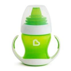 Munchkin обучающий поильник-чашка Gentle™ с ручками зелёный 4+ 120мл.