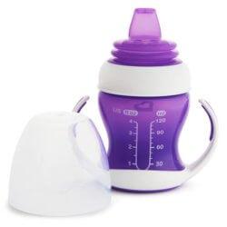 Munchkin обучающий поильник-чашка Gentle™ с ручками фиолетовый 4+ 120мл.