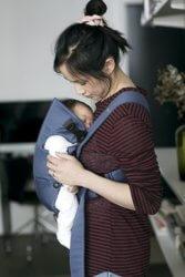 BABYBJORN MINI COTTON Рюкзак для новорожденных Синий