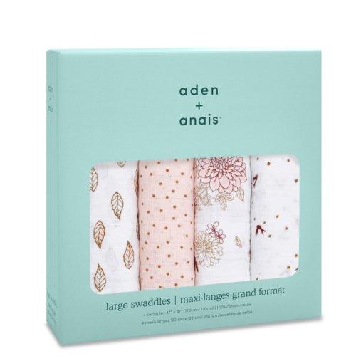 Aden+Anais Набор из 4 муслиновых пеленок Dahilas 120×120 см