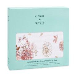 Aden+Anais 4-х слойное муслиновое одеяло Dahilas 120×120см