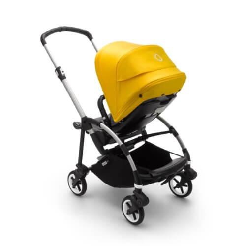 Bugaboo Bee6 коляска прогулочная Alu/Grey Melange/Lemon Yellow