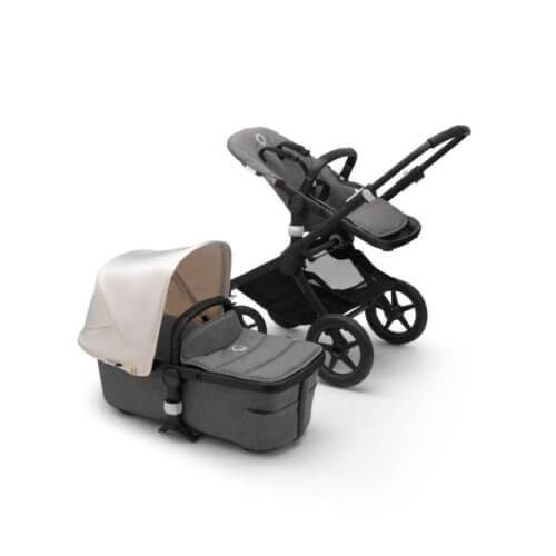 Bugaboo Fox2 коляска 2 в 1 Black/ Grey Melange/ Fresh White